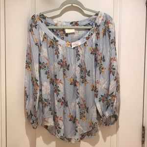 Maeve by Anthropologie Floral Blouse